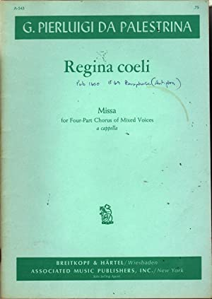 Missa Regina Coeli: Palestrina, G. Pierluigi Da