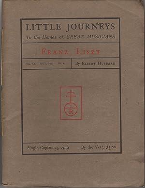 Little Journeys to the Homes of Great Musicians Vol IX No 1: Hubbard, Elbert