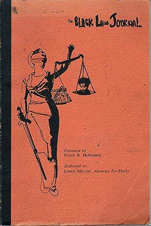 The Black Law Journal Vol 1 No 1: McKissick, Floyd, Ed.