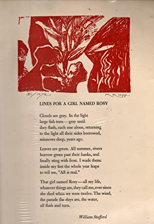 Lines for a Girl Named Rosy (Poem on Broadside): Stafford, William