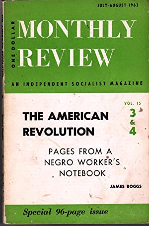 The American Revolution: Pages from a Negro Worker's Notebook: Boggs, James