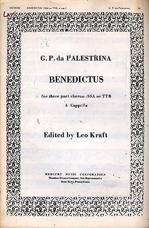 Benedictus: Palestrina, G. Pierluigi Da