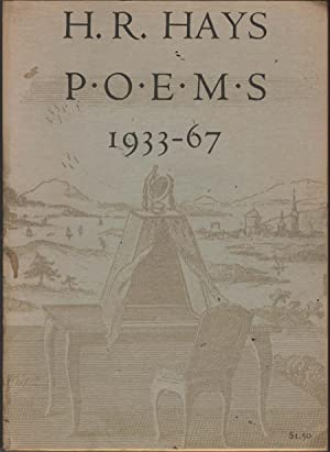 Selected Poems 1933-1967: Hays, H.R.