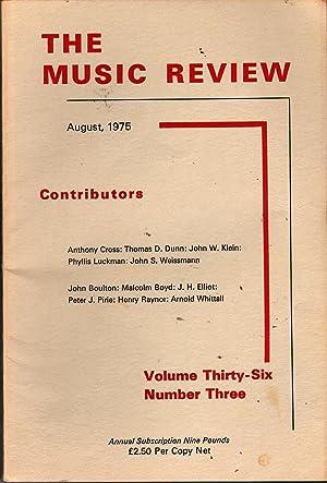 The Music Review Vol 36 #3: Thomas, A.F. Leighton, Gen. Ed.