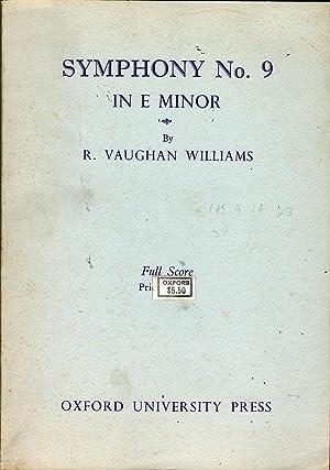 Symphony No. 9 in E Minor: Vaughn Williams, Ralph