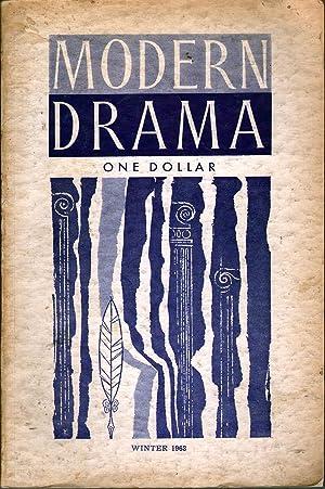Modern Drama Winter 1963: Edwards, A.C., Ed.
