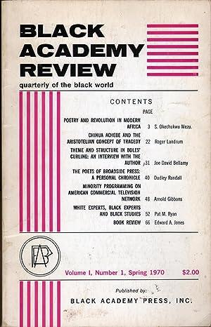 Black Academy Review: Quarterly of the Black World V1 #1: Mezu, S. Okechukwu, Ed.
