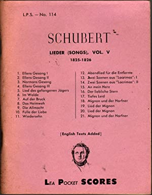 Lieder (Songs), Vol. V 1825-1826: Schubert, Franz