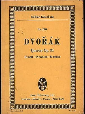 Quartet Op. 34 in D Minor: Dvorak, Antonin