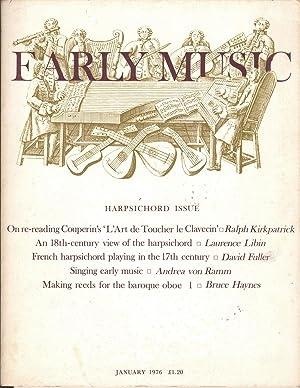 Early Music Vol 4 No 1: Thomson, J. M., Ed.