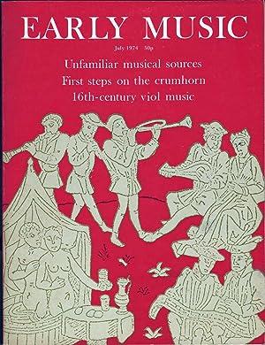 Early Music Vol 2 No 3: Thomson, J. M., Ed.