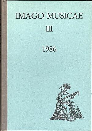 Imago Musicae III, 1986: Seebass, Tilman, Ed