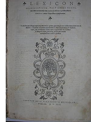 Lexicon Graecolatinum post omnes hactenus editiones maxima