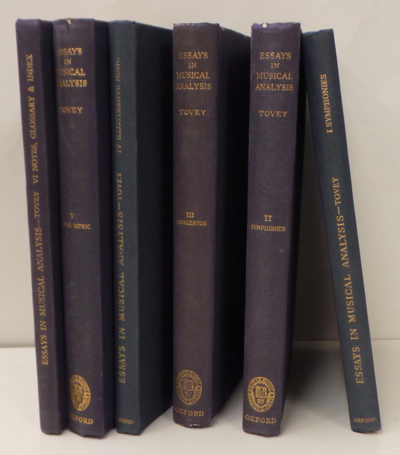 Essays in Musical Analysis (6 volumes) Donald Francis Tovey Good Hardcover