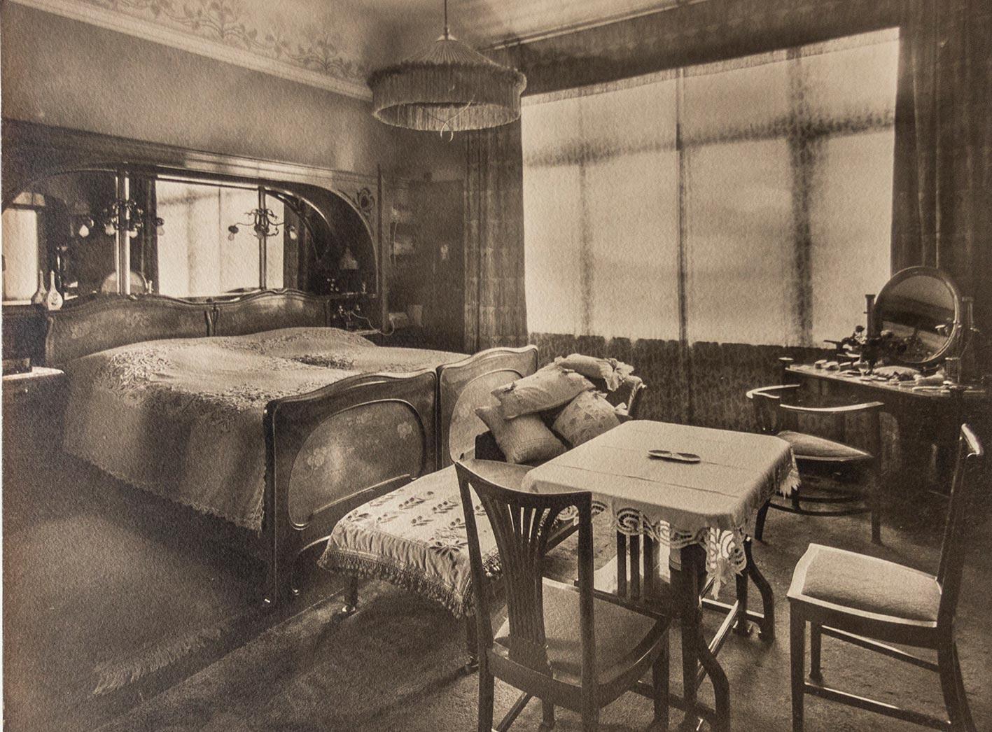 Jugendstil Schlafzimmer-Einrichtung eines ...