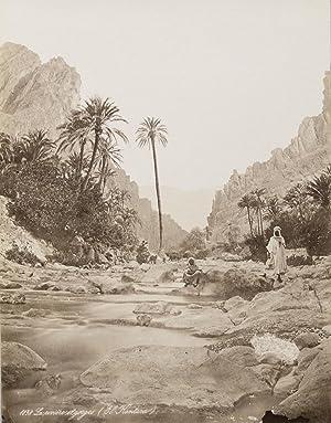 Fluss und Schlucht von El Kantara. Original-Fotografie;: Anonymer Fotograf: