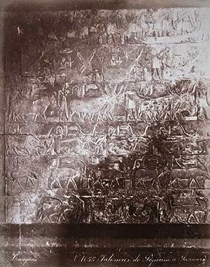 Ägypten. Hieroglyphen in Sakkara. Original-Fotografie, Albumin-Abzug (ca.: ZANGAKI: