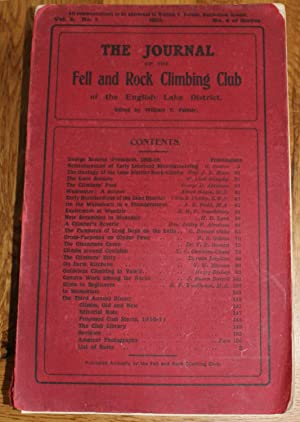 The Journal of The Fell & Rock Climbing Club of the English Lake District. Vol. 2 No 1. No 4 of S...
