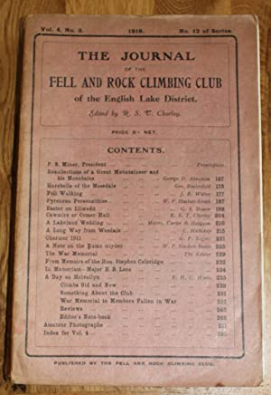 The Journal of The Fell & Rock Climbing Club of the English Lake District. Vol.4, No. 3. No. 12 O...