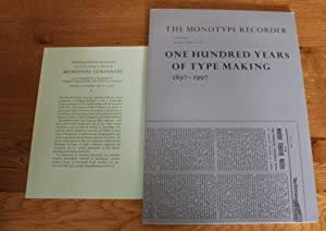 One Hundred Years of Type Making 1897 - 1997. A Series of Essays Covering the History Of Type Mak...