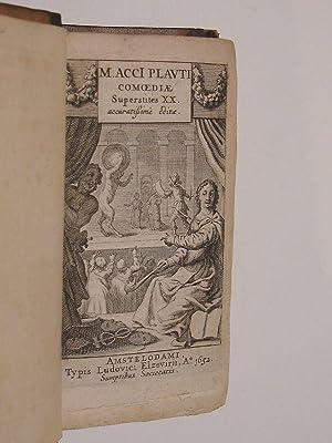 M. Acci Plauti Comoediae Superstites XX. Accuratissime: PLAUTUS.
