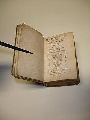 Diogenis Laertii de vita et moribus philosophorum,: DIOGENES LAERTIUS.