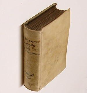 Diogenis Laertii De vita et moribus philosophorum: DIOGENES LAERTIUS.