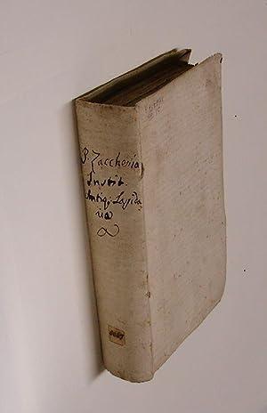 Istituzione antiquario-lapidaria o sia introduzione allo studio: ZACCARIA,FRANCESCO ANTONIO.
