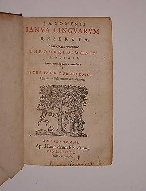 J.A. Comenii Janua linguarum reserata, cum graeca: COMENIUS