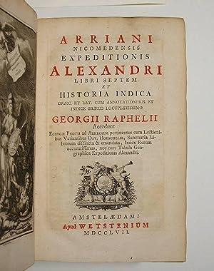 Arriani Nicomedensis Expeditionis Alexandri libri septem, et: ARRIANUS.