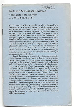 Dada and Surrealism Reviewed: A Brief Guide: Sylvester, David