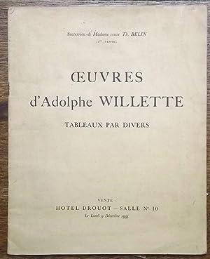 TABLEAUX Aquarelles Pastels Dessin Vitrail par .: Willette, Adolphe.
