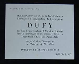 Inauguration de l'Exposition DUFY ( Raoul ).: GALERIE LOUIS CARRE,