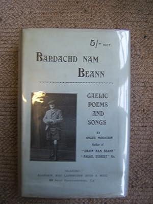Bardachd Nam Beann : Gaelic poems and: Angus Morrison