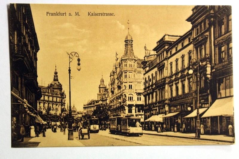 Frankfurt a. M. Kaiserstraße.: Ansichtskarte: