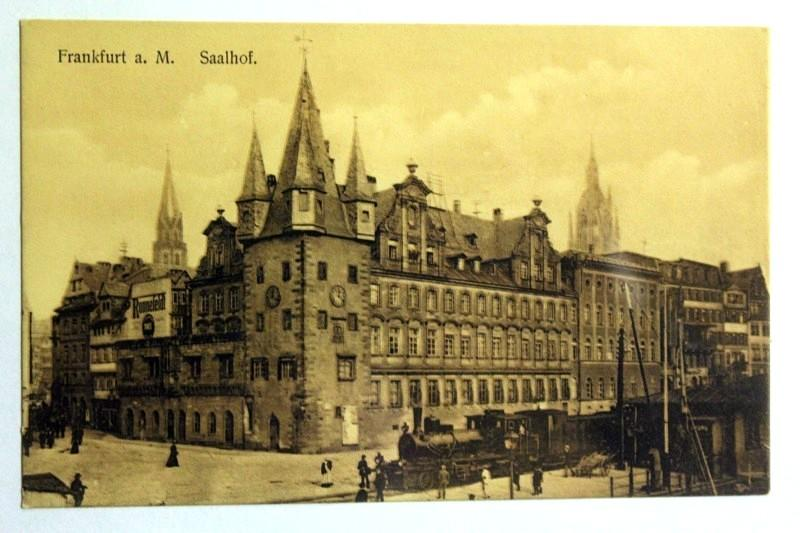 Frankfurt a. M.- Saalhof.: Ansichtskarte: