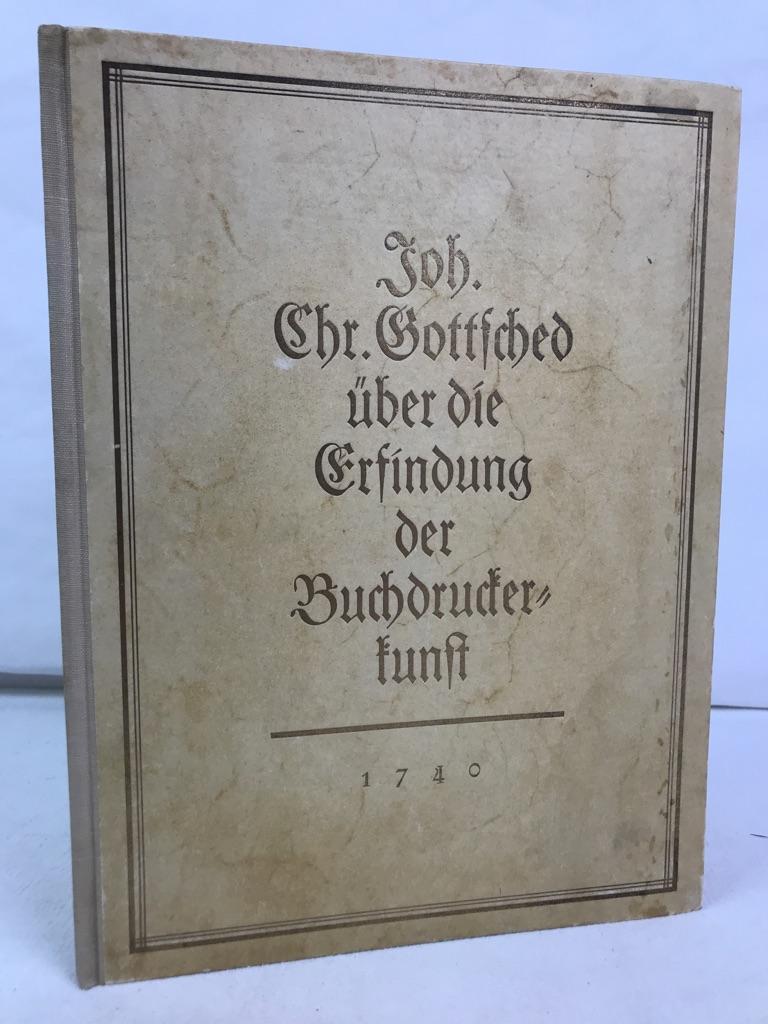Festrede zur 300jährigen Jubelfeier der Erfindung der: Gottsched, Johann Christoph: