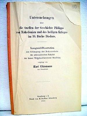 Untersuchungen über die Quellen der Geschichte Philipps: Uhlemann, Karl: