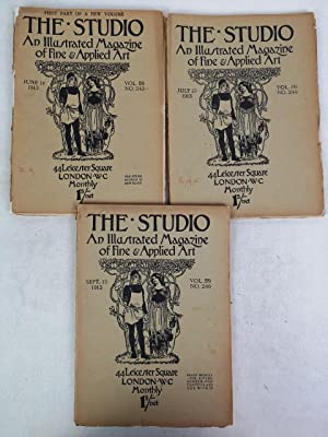 The Studio. An Illustrated Magazine of Fine & Applied Art. Vol. 59. NO.243; NO. 244; NO. 246. Jun...