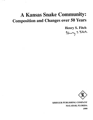 A Kansas Snake Community: Composition and Changes over 50 Years: Fitch, Henry S.
