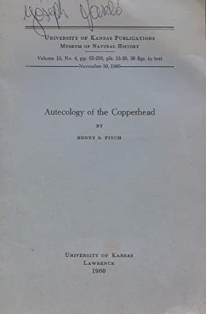 Autecology of the Copperhead.: Fitch, Henry S.