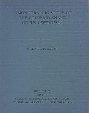 A Monographic Study of the Colubrid Snake Genus Leptodeira.: Duellman, William E.