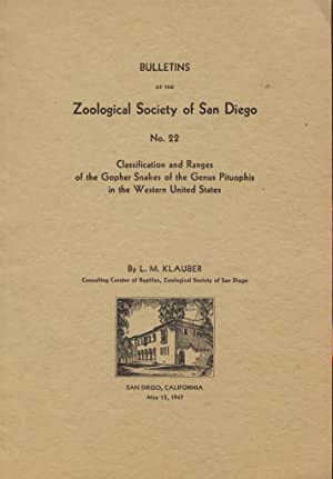 Classification and Ranges of the Gopher Sakes of the Genus Pituophis in the Western United States.:...