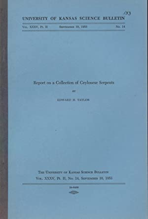 Report on a Collection of Ceylonese Serpents