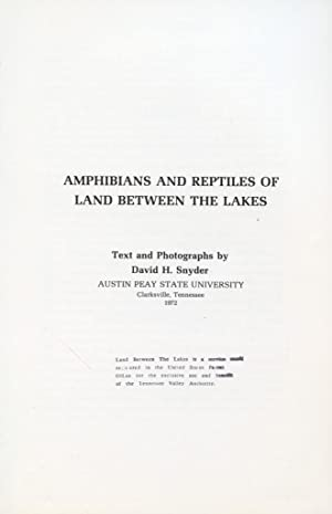 Amphibians and reptiles of Land between the Lakes: Snyder, David H.