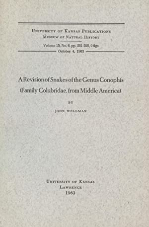 A Revision of Snakes of the Genus: Wellman, John