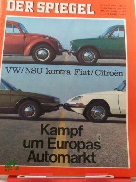 12/1969, Kampf um Europas Automarkt, VW/NSU kontra: Der Spiegel, das