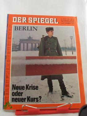 10/1969, Neue Krise oder neuer Kurs: Der Spiegel, das