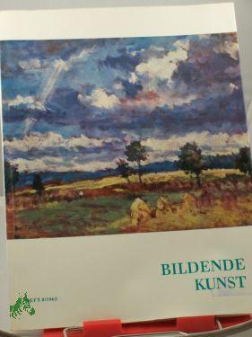 8/1963: Bildende Kunst, Zeitschrift