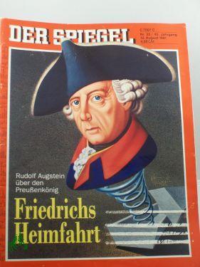 33/1991, 12. August, Friedrichs Heimfahrt: Der Spiegel, das